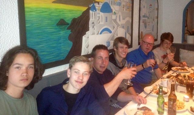 Varde Aikido sæson afslutning på græske restaurant Taverna Familia
